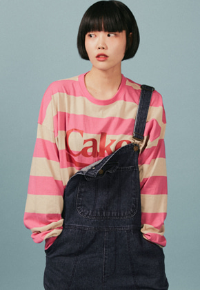 A Piece Of Cake어피스오브케이크 Cake Stripe Longsleeved T-shirts_Pink