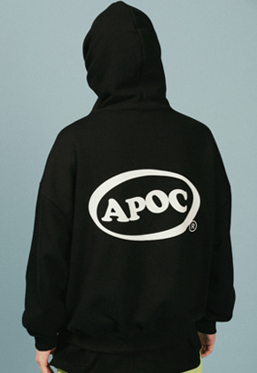 A Piece Of Cake어피스오브케이크 Oval Logo Hoodie_Black