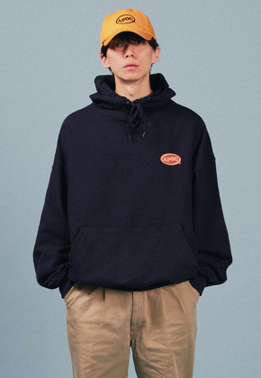 A Piece Of Cake어피스오브케이크 Oval Logo Hoodie_Navy