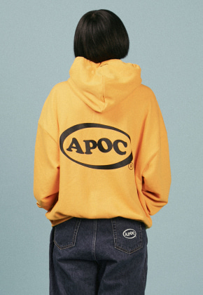 A Piece Of Cake어피스오브케이크 Oval Logo Hoodie_Yellow