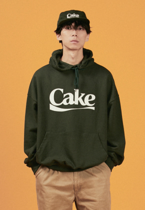 A Piece Of Cake어피스오브케이크 Cake Logo Hoodie_Green