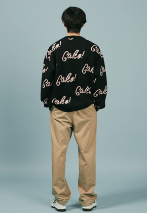 A Piece Of Cake어피스오브케이크 Cake Lettering knit_Black