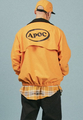 A Piece Of Cake어피스오브케이크 Oval Logo Blouson_Yellow