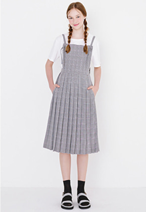 Margarin Fingers마가린핑거스 PLEATS SUSPENDER DRESS