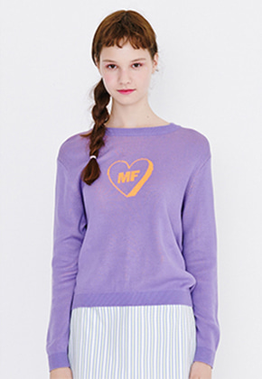 Margarin Fingers마가린핑거스 MF HEART KNIT (PURPLE)