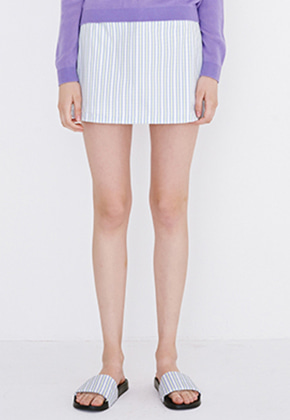 Margarin Fingers마가린핑거스 TRIPLE HEART SKIRT (LAVENDER BLUE)