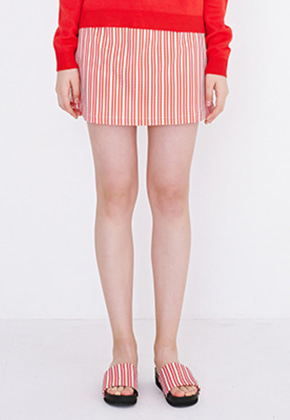 Margarin Fingers마가린핑거스 TRIPLE HEART SKIRT (RED)