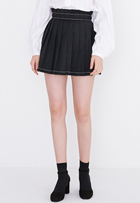 Margarin Fingers마가린핑거스 STITCH PLEATS SKIRT