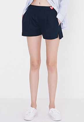 Margarin Fingers마가린핑거스 RELAX SLIT SHORTS(DARK NAVY)