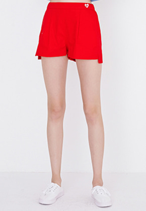 Margarin Fingers마가린핑거스 RELAX SLIT SHORTS(RED)