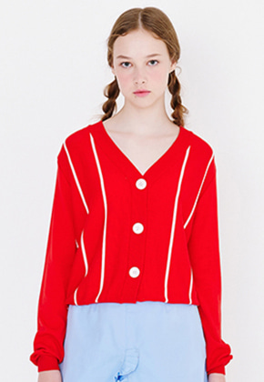 Margarin Fingers마가린핑거스 PIN STRIPE CARDIGAN