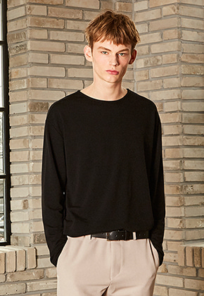 Yan13얀써틴 SPECIAL BOAT NECK T_BLACK