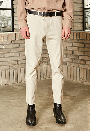 Yan13얀써틴 NORMAL COTTON PANTS_IVORY