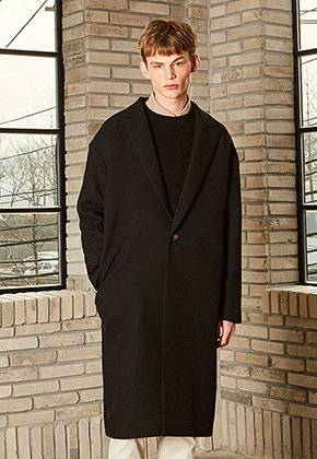 Yan13얀써틴 MERLIN OVER LONG COAT_BLACK