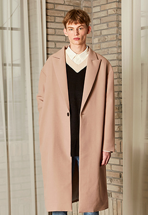 Yan13얀써틴 MERLIN OVER LONG COAT_BEIGE