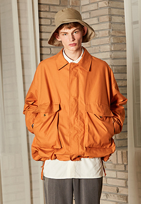 Yan13얀써틴 Y OVERSIZE TRACK JUMPER_ORANGE