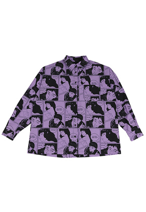 AJO BY AJO아조바이아조 Manga Shirt (Purple)