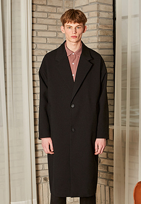 Yan13얀써틴 CLASSIC OVERSIZE LONG COAT_BLACK