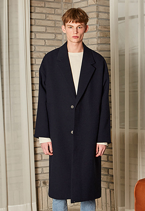 Yan13얀써틴 CLASSIC OVERSIZE LONG COAT_NAVY