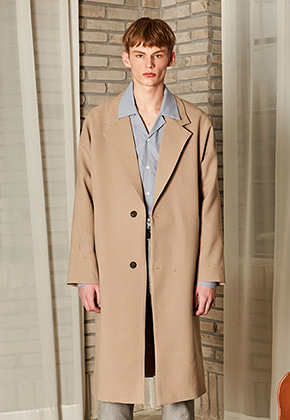 Yan13얀써틴 CLASSIC OVERSIZE LONG COAT_BEIGE