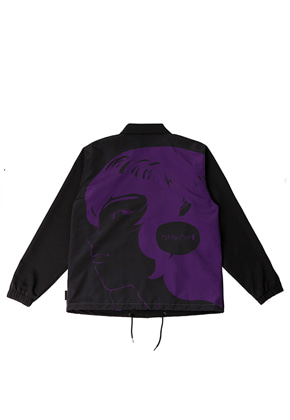 AJO BY AJO아조바이아조 Manga Coach Jacket (Black)