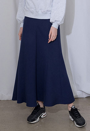 More or Less모어올레스 COTTON LONG SKIRTNAVY