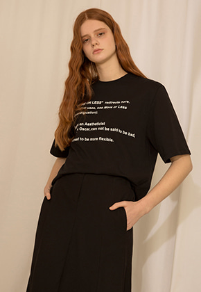 More or Less모어올레스 LETTERING T-SHIRTBLACK