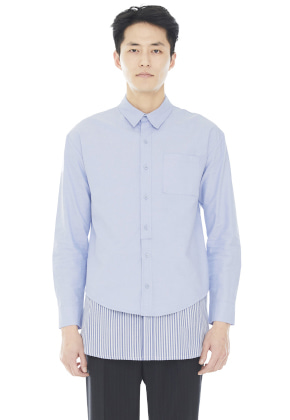 Millogrem밀로그램 Layered Shirts_Blue
