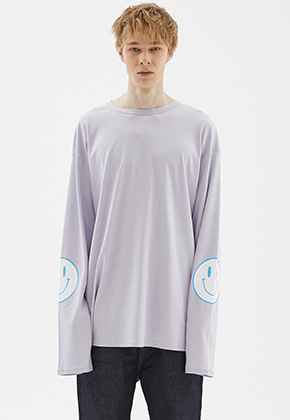 INDIGO CHILDREN인디고칠드런 OVERSIZED SMILE LONG SLEEVE	[LIGHT PURPLE]