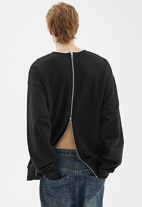 INDIGO CHILDREN인디고칠드런 OVERSIZED ALL BACK ZIP MTM [BLACK]