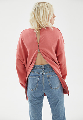 INDIGO CHILDREN인디고칠드런 OVERSIZED ALL BACK ZIP MTM [PINK]