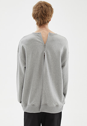 INDIGO CHILDREN인디고칠드런 OVERSIZED ALL BACK ZIP MTM [GREY]