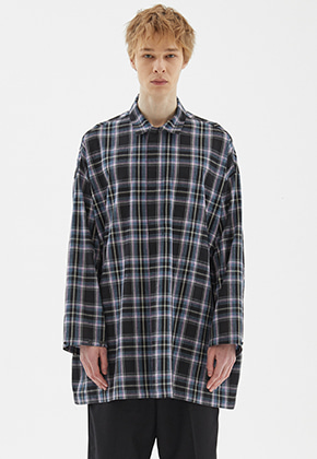 INDIGO CHILDREN인디고칠드런 OVERSIZED TUNIC LONG SHIRT [BLACK]