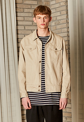 Yan13얀써틴 DANISH WASHING COTTON JACKET_BEIGE