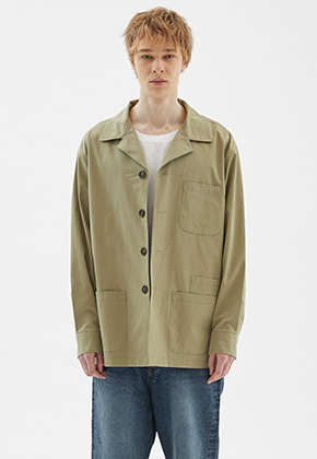 INDIGO CHILDREN인디고칠드런 OVERSIZED FIELD SHIRT JACKET [KHAKI]