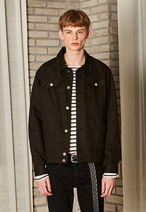 Yan13얀써틴 DANISH WASHING COTTON JACKET_BLACK