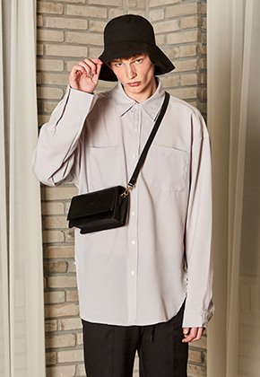 Yan13얀써틴 OVERSIZE TWO POCKET SHIRTS_GRAY