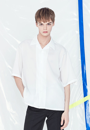 Voiebit브아빗 V420 STITCHES SHIRT  WHITE