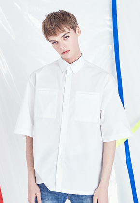 Voiebit브아빗 V424 DOUBLE LIP POCKET SHIRT  WHITE