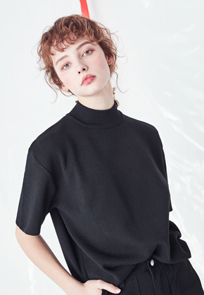 Voiebit브아빗 V536 SOFT HIGH NECK KNIT  BLACK