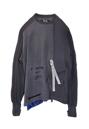 MPQ엠피큐 BIOWASHED_SIGNATURE POCKET LONG SLEEVE