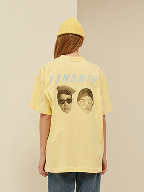 13Month써틴먼스 TWO FACE PRINTING T-SHIRT (YELLOW)