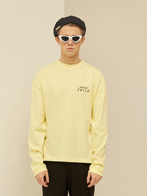 13Month써틴먼스 SERIOUS CHILD LONG T-SHIRT (YELLOW)