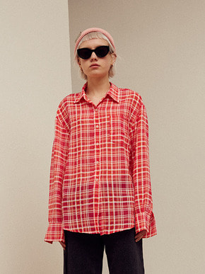 13Month써틴먼스 TARTAN CHECK SHIRT (RED)