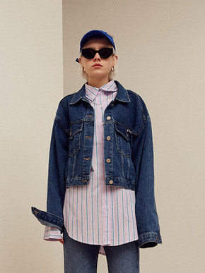 13Month써틴먼스 [3/28 예약배송] WAPPEN DENIM TRUCKER JACKET (DENIM)
