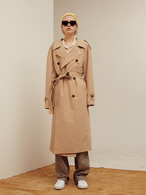 13Month써틴먼스 BACK OPEN LONG TRENCH COAT (BEIGE)