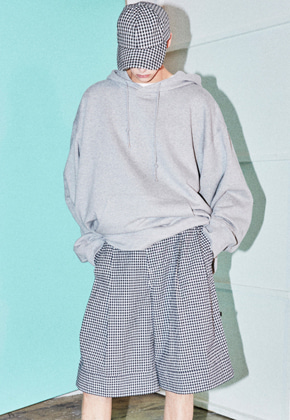 NOHANT노앙 COTTON PLEATED SHORTS GINGHAM