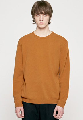 Insilence인사일런스 CASHMERE CREW NECK KNIT maple