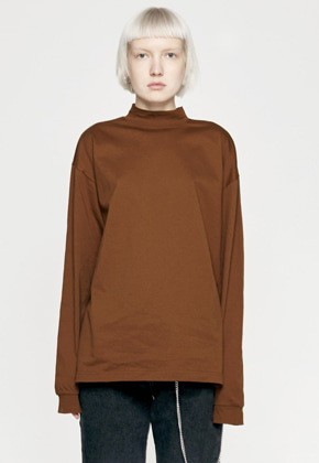 Insilence인사일런스 MOCK NECK LONG SLEEVES brown