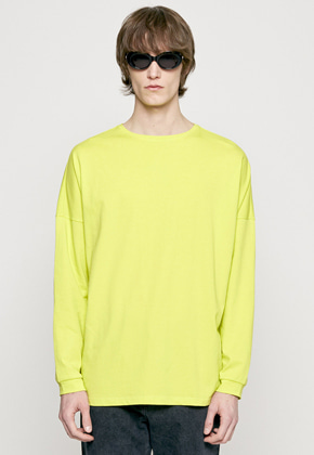 Insilence인사일런스 SOLID CREW NECK LONG SLEEVES yellow green